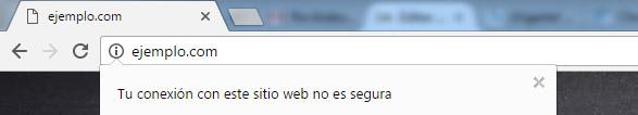 web sin certificado