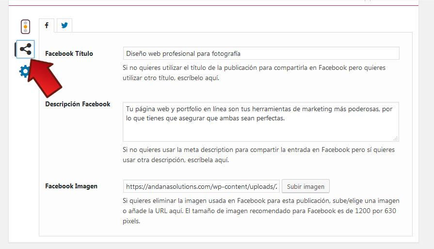 Compartir y publicar contenidos en facebook