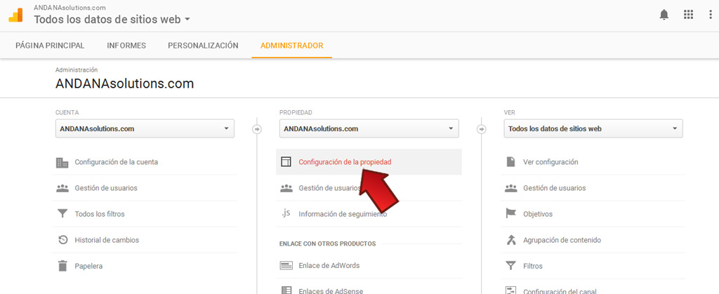 configurar analytics para https
